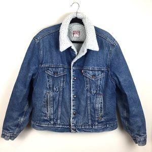 Levi's Vintage Denim Sherpa Lined Trucker Jacket
